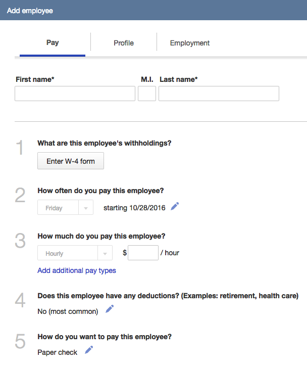 How To Setup Employees In Quickbooks Online