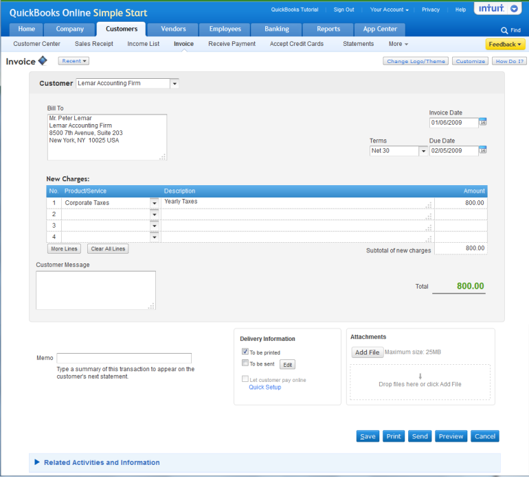 about quickbooks online, Invoice templates