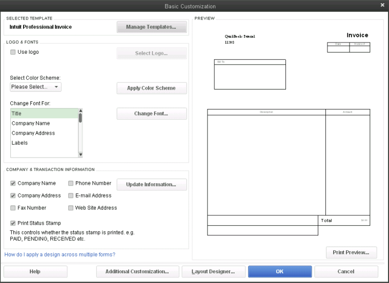 How to Customize Forms in QuickBooks