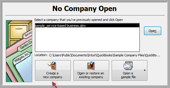 How to setup a new company in QuickBooks