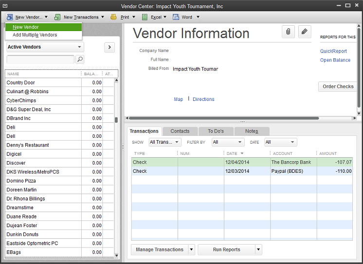 How To Setup Vendors For 1099 In Quickbooks For Windows